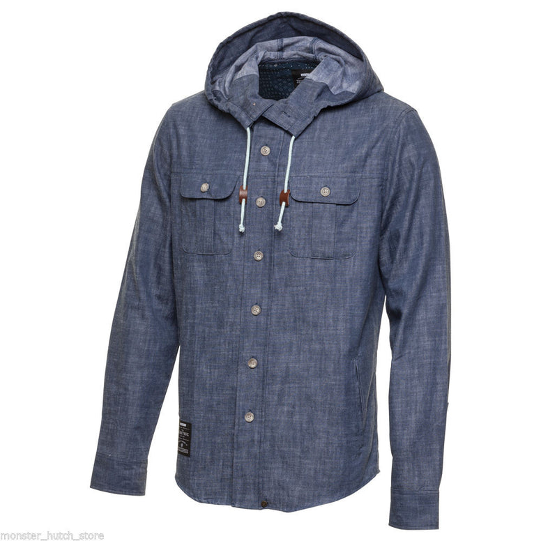 Electric California CHARLESTOWN HOODED JACKET DENIM