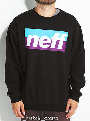 Neff SPORT STRIPE Crew SWEATER Black