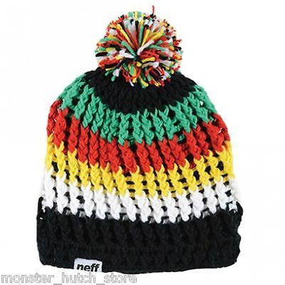 a095bc1d7 BRAND NEW WITH TAGS UNISEX Neff WOMP Beanie BLACK/YELLOW/GREEN LIMITED  EDITION