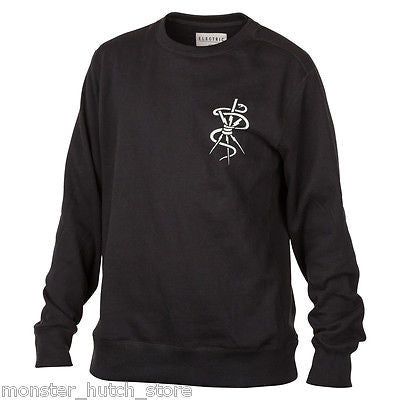 Electric California RILEY Crew Sweater BLACK