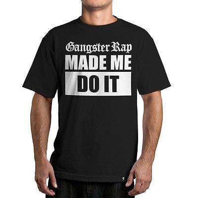 Famous Stars & Straps GANGSTER RAP Tee Shirt BLACK