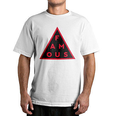 Famous Stars & Straps BLACK MASS Tee Shirt WHITE/RED