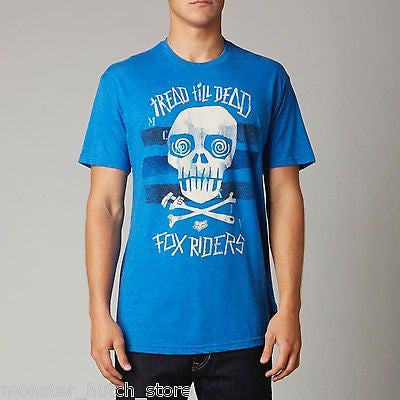 Fox Head Racing CAST OFF Premium Tee Shirt BLUE