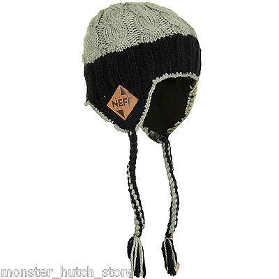 BRAND NEW WITH TAGS Neff FLAB Beanie BLACK/GREY LIMITED EDITION RARE