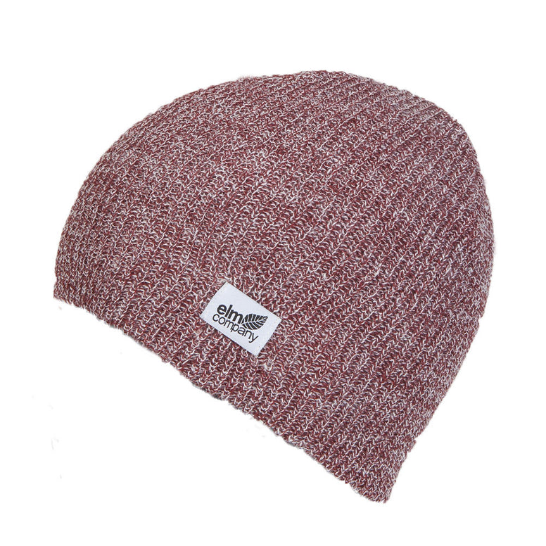 NEW WITH TAGS Elm Company Unisex CLASSIC Beanie HEATHER RED/WHITE LIMITED RARE