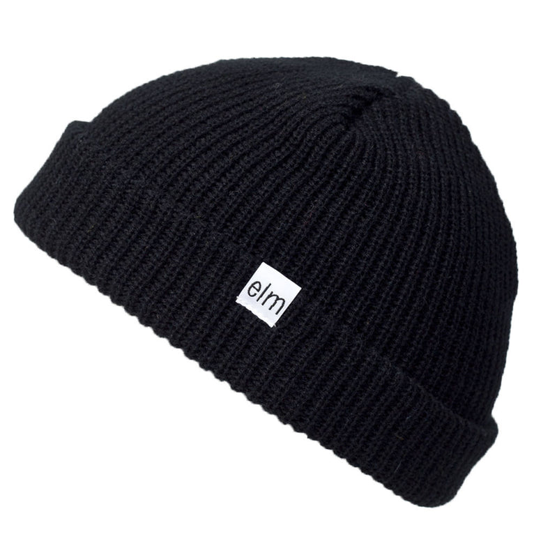 NEW WITH TAGS Elm Company Youth Kids SAPLINGS STANDARD Beanie BLACK LIMITED RARE