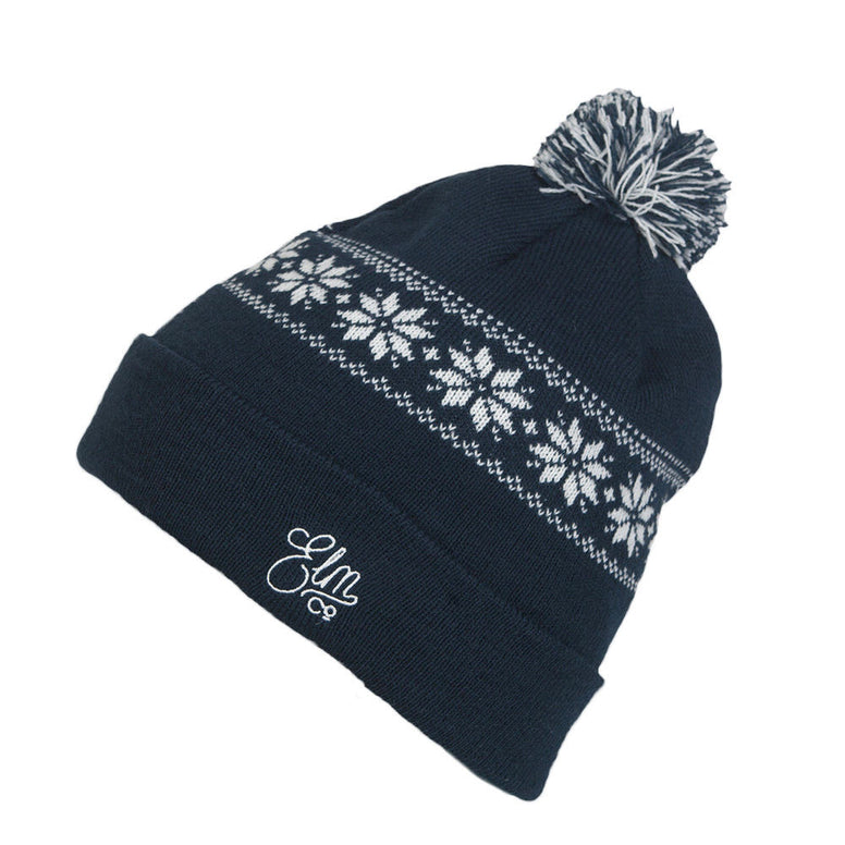 NEW WITH TAGS Elm Company Unisex EVOL Beanie NAVY BLUE LIMITED RELEASE EDITION