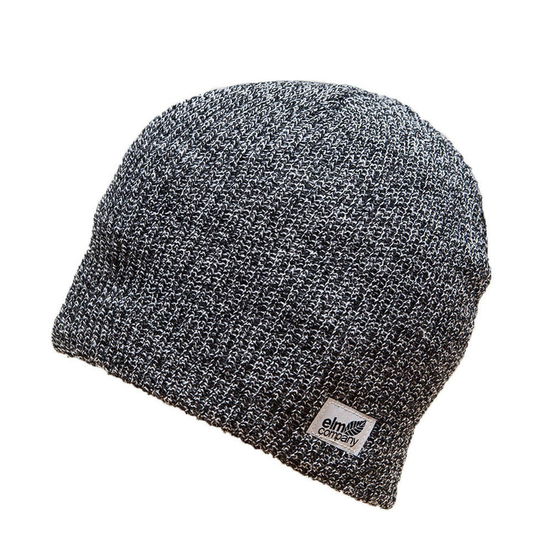 NEW WITH TAGS Elm Company Unisex CLASSIC Beanie HEATHER BLACK/WHITE LIMITED RARE
