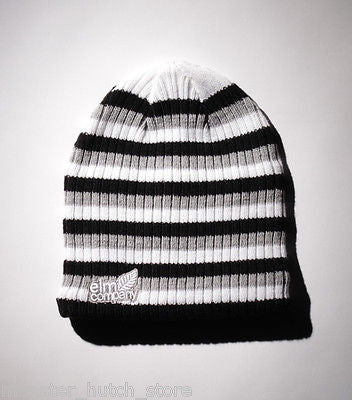 BRAND NEW WITH TAGS Elm Company THE TRINITY Beanie BLACK LIMITED EDITION