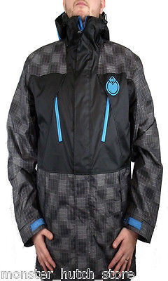 NEW WITH TAGS Nomis GRID Snowboard Jacket BLACK GRID LARGE SHELL LIMITED RELEASE