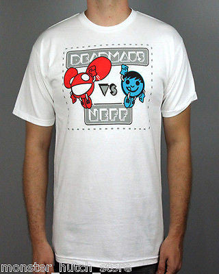 NEW WITH TAGS Neff x Deadmau5 VERSUS Tee Shirt WHITE MEDIUM-XXLARGE LIMITED