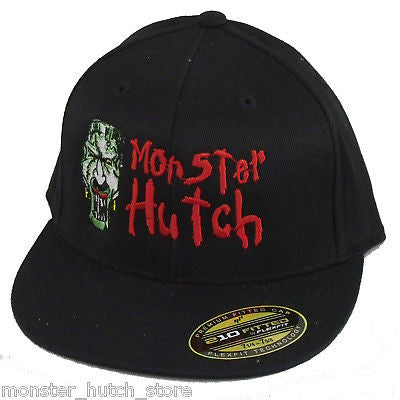 BRAND NEW WITH TAGS Monster Hutch SHOP 210 FlexFit Hat BLACK LIMITED RELEASE