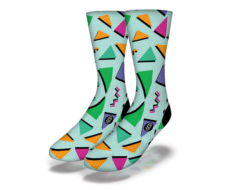 SAVVY SOX 90's TRIANGLES SOCKS