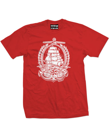 AESOP ORIGINALS AHOY THERE MATEY TEE SHIRT RED