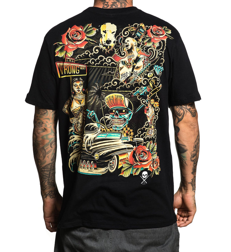 SULLEN x SUBLIME ALL WRONG TEE SHIRT BLACK