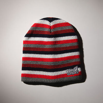 BRAND NEW WITH TAGS Elm Company MULTI STRIPE Beanie RED LIMITED