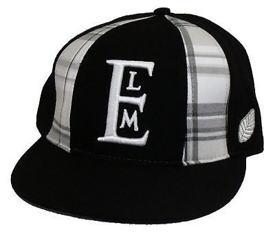 Brand New With Tags Elm Company PANEL Fitted Hat Black LIMITED RELEASE RARE
