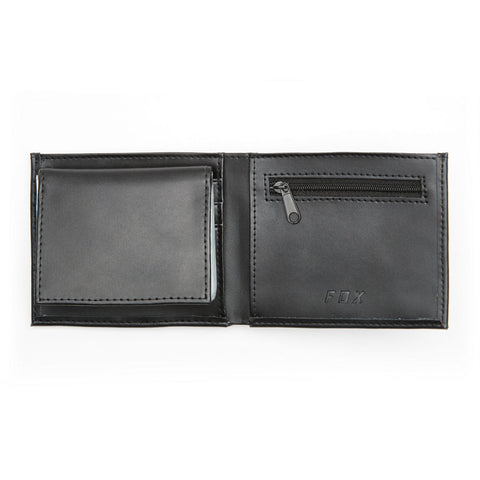 Fox Racing BI FOLD WALLET BLACK LEATHER