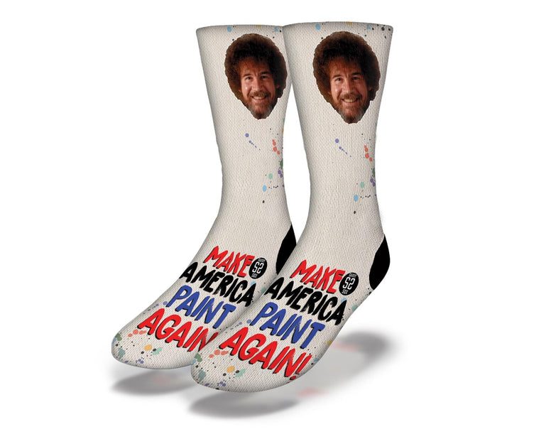SAVVY SOX BOB ROSS MAKE AMERICA PAINT AGAIN SOCKS