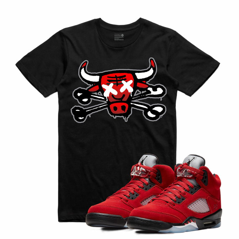 Retro Kings AJ5 TORO BRAVO BULLY BONES TEE BLACK