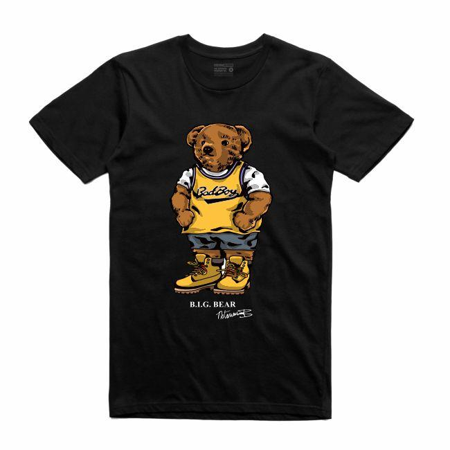 Streetwear on Demand BEAR BIGGIE TEE BLACK