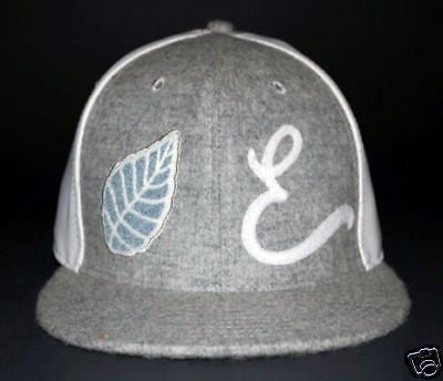 BRAND NEW WITH TAGS Elm Company LEATHER WOOL LIMITED FITTED HAT GRAY/WHITE 7 1/2