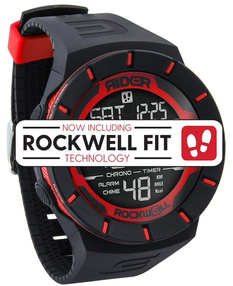 ROCKWELL THE COLISEUM FIT WATCH BLACK RED
