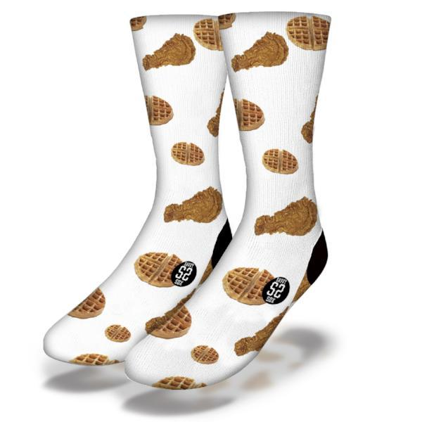 SAVVY SOX CHICKEN AND WAFFLES WHITE SOCKS