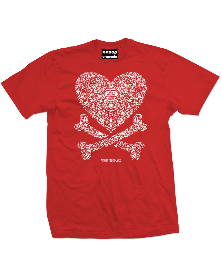 AESOP ORIGINALS CROSS MY HEART TEE SHIRT RED