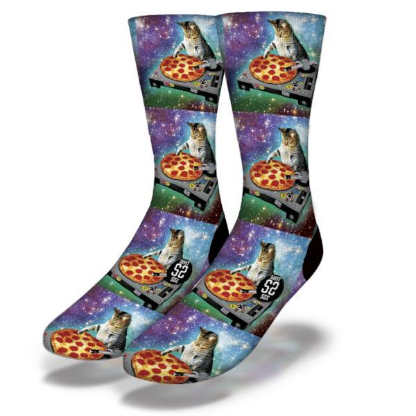 SAVVY SOX DJ PIZZA CAT SOCKS