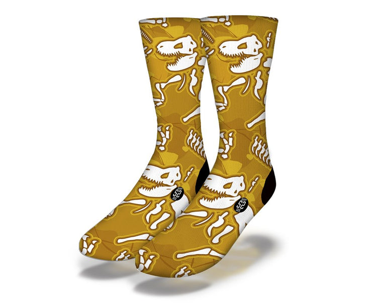 SAVVY SOX T REX SKELETON SOCKS