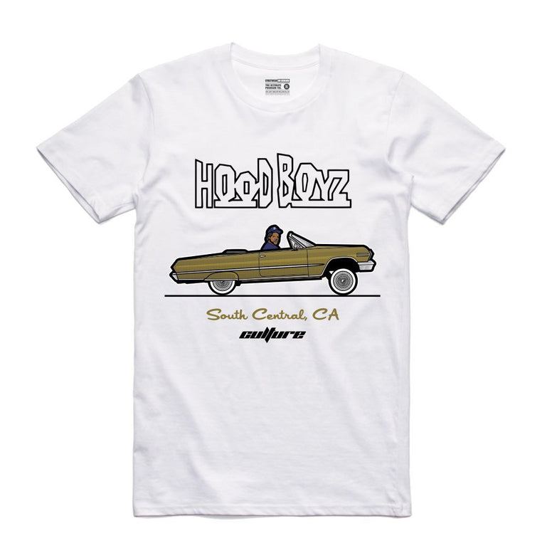 Streetwear on Demand CULTURE DOUGH BOY HOOD BOYZ TEE WHITE