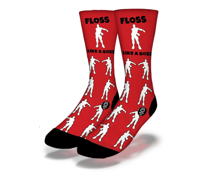 SAVVY SOX FORTNITE FLOSS LIKE A BOSS SOCKS