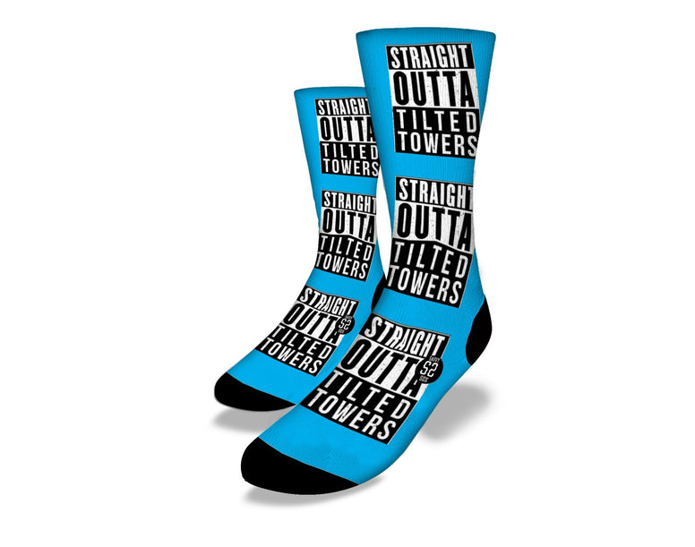 SAVVY SOX FORTNITE TILTED TOWER BLUE SOCKS