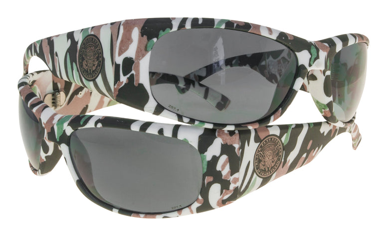 BLACK FLYS FLY BALLISTIC SUNGLASSES WHITE CAMO POLARIZED SMOKE