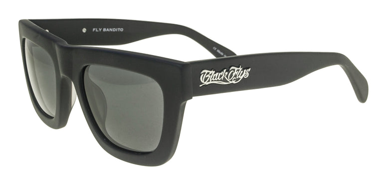 BLACK FLYS BANDITO SUNGLASSES MATTE BLACK SMOKE LENS