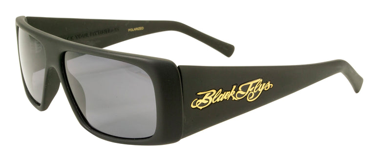BLACK FLYS FLY STRAIGHT SUNGLASSES MATTE BLACK POLARIZED