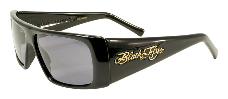 BLACK FLYS FLY STRAIGHT SUNGLASSES SHINY BLACK