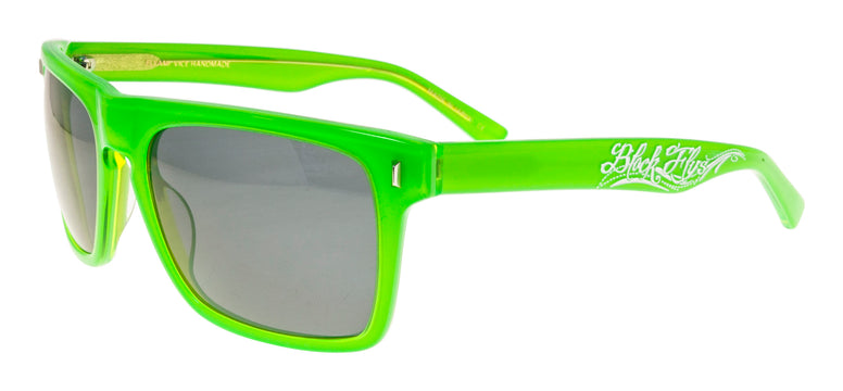 BLACK FLYS FLYAMI VICE SUNGLASSES NEON GREEN SMOKE LENS