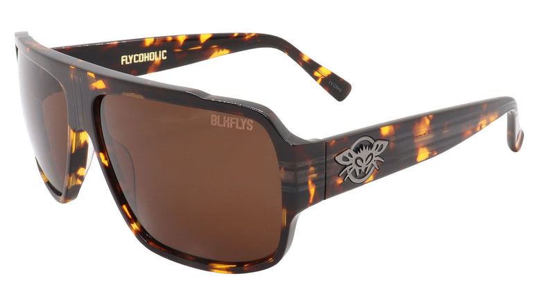 BLACK FLYS FLYCOHOLIC SUNGLASSES TORTOISE POLARIZED