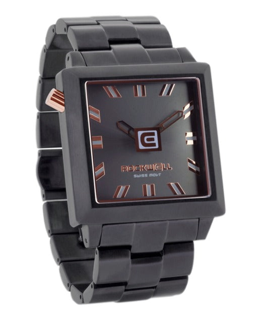 ROCKWELL THE 40mm2 WATCH GUNMETAL ROSE GOLD