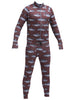 AIRBLASTER Hoodless Ninja Suit BURGUNDY FISH