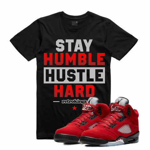Retro Kings AJ5 TORO BRAVO STAY HUMBLE TEE BLACK
