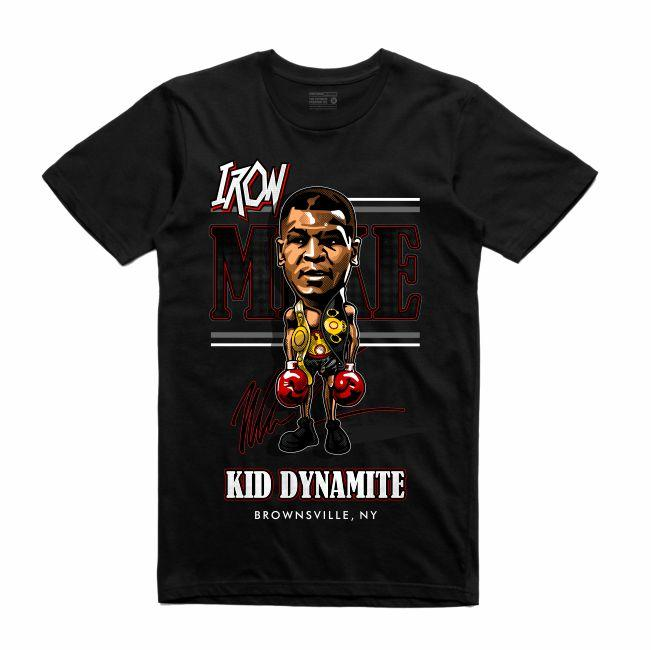 Streetwear on Demand CARICATURE IRON MIKE TEE BLACK
