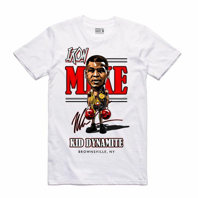 Streetwear on Demand CARICATURE IRON MIKE TEE WHITE