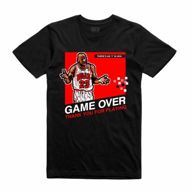 Streetwear on Demand 8 BIT MJ TEE BLACK