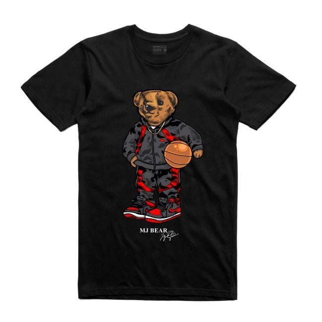 Streetwear on Demand BEAR MJ TEE BLACK