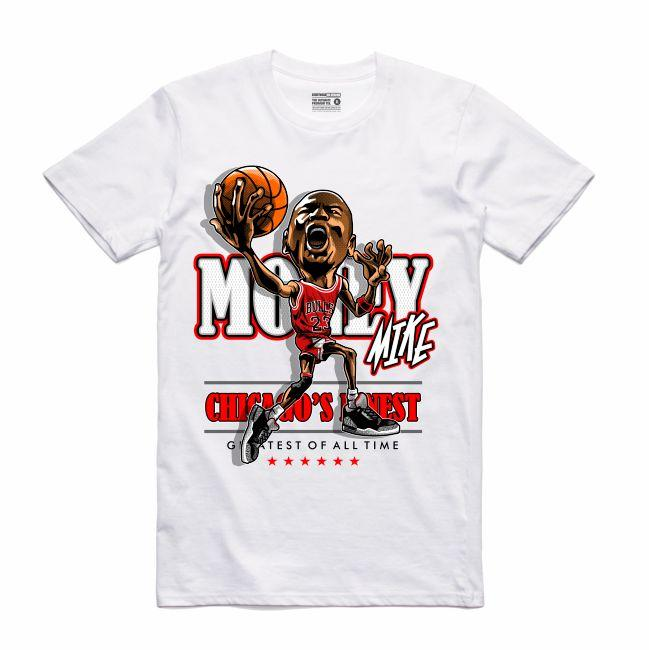 Streetwear on Demand CARICATURE MJ TEE WHITE