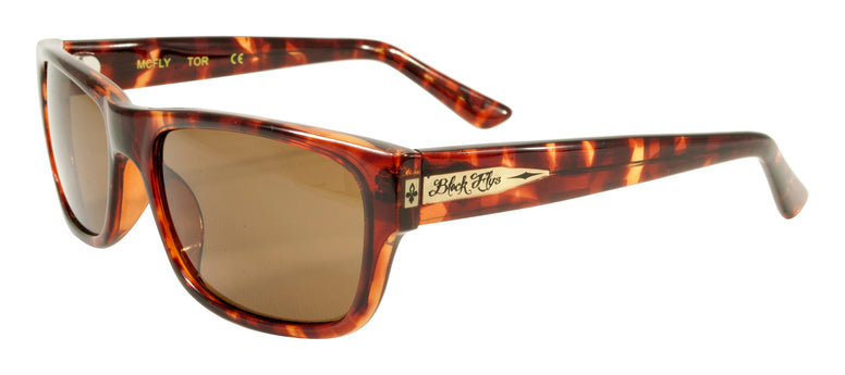 BLACK FLYS McFLY SUNGLASSES TORTOISE POLARIZED BROWN LENS