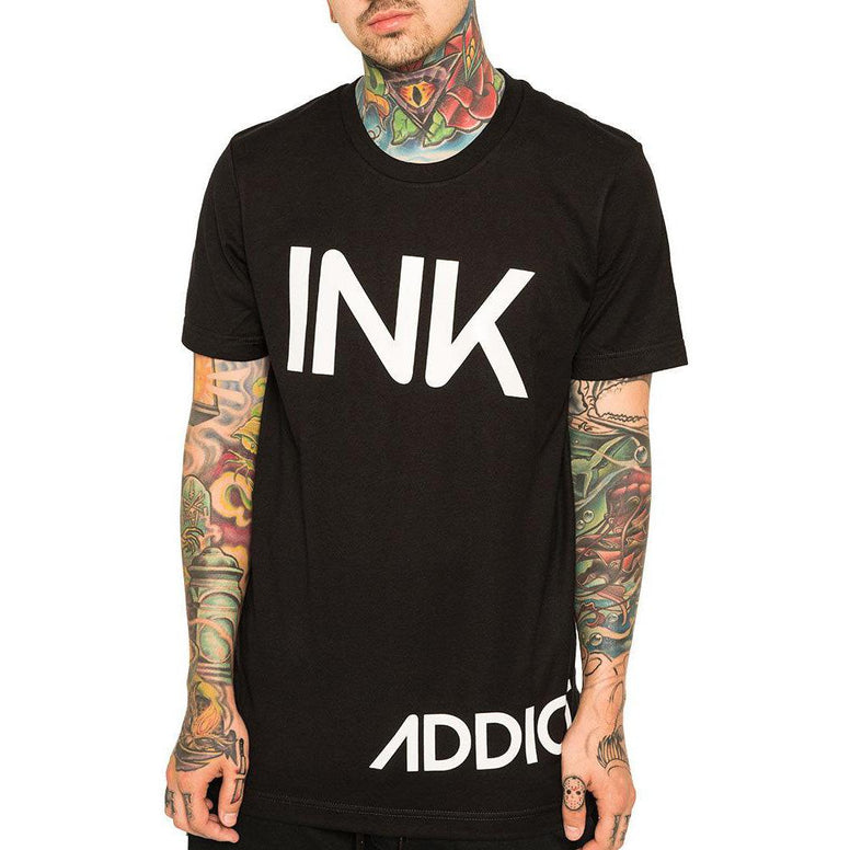 InkAddict INK Mens Tee BLACK / WHITE